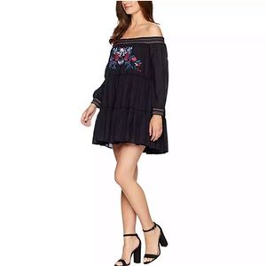 New Free People off shoulder embroidered dress